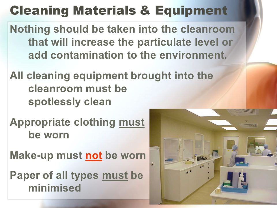 Cleaning Materials & Equipment
