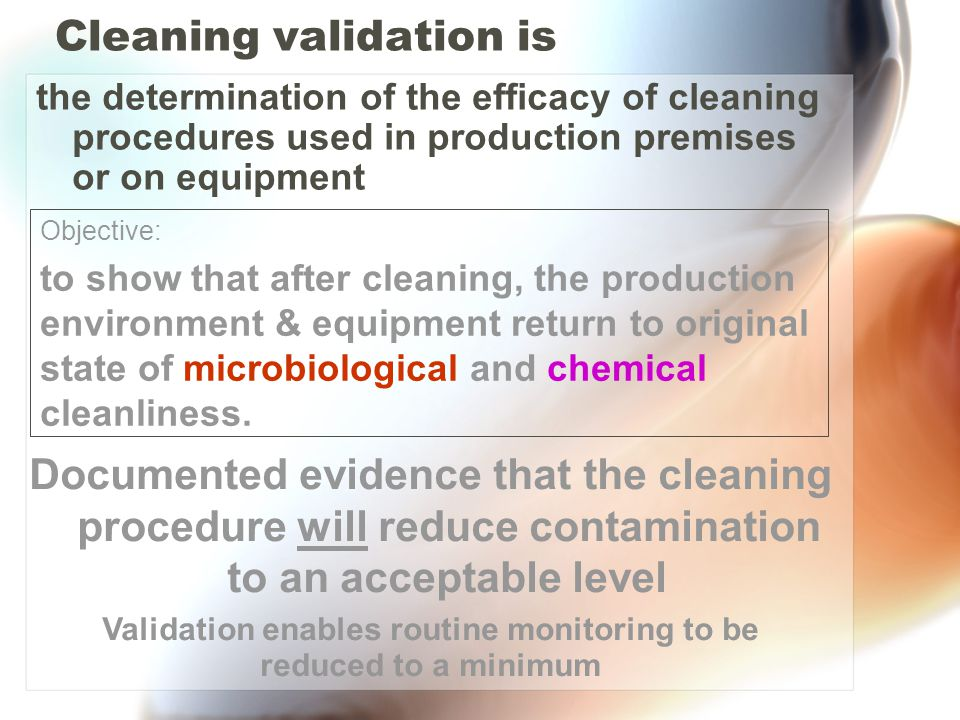 Cleaning validation is