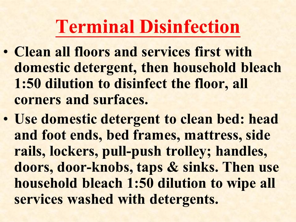 Terminal Disinfection