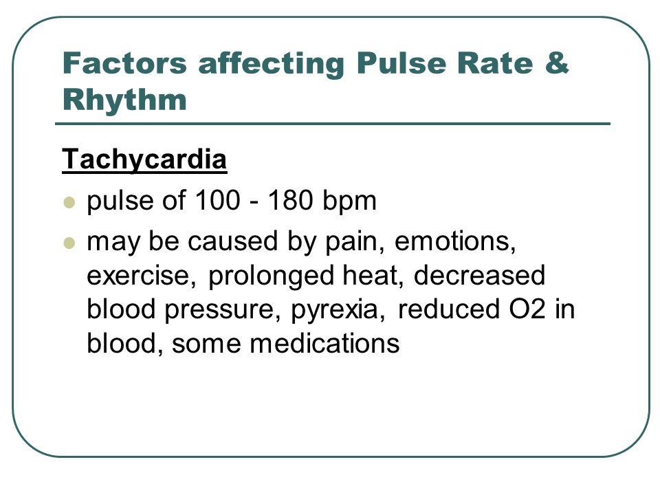 Factors affecting Pulse Rate & Rhythm