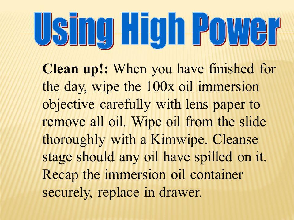 Using High Power