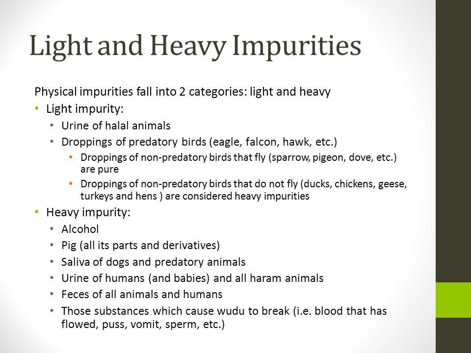 Light and Heavy Impurities