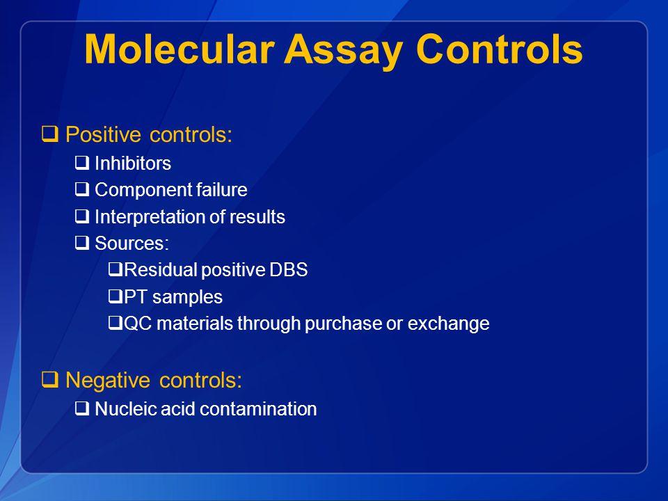 Molecular Assay Controls