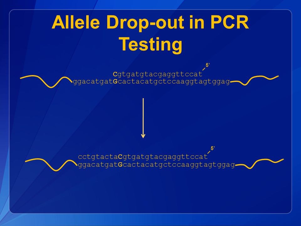Allele Drop-out in PCR Testing