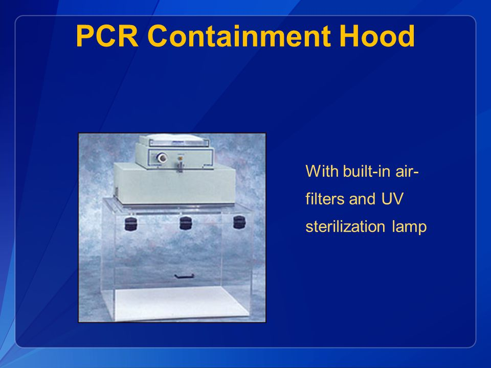 PCR Containment Hood With built-in air-filters and UV sterilization lamp