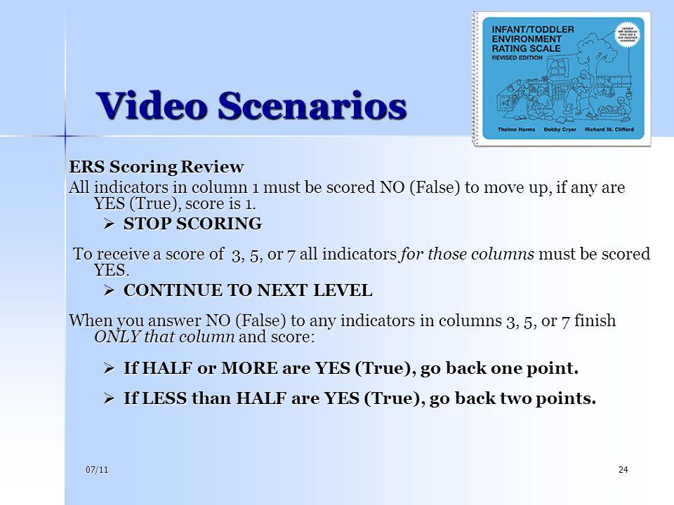 Video Scenarios ERS Scoring Review