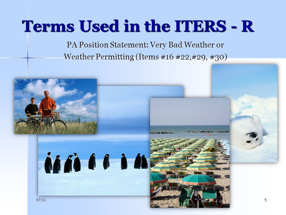 Terms Used in the ITERS - R