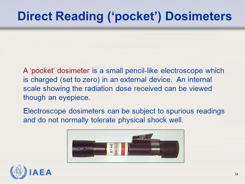 Direct Reading ('pocket') Dosimeters