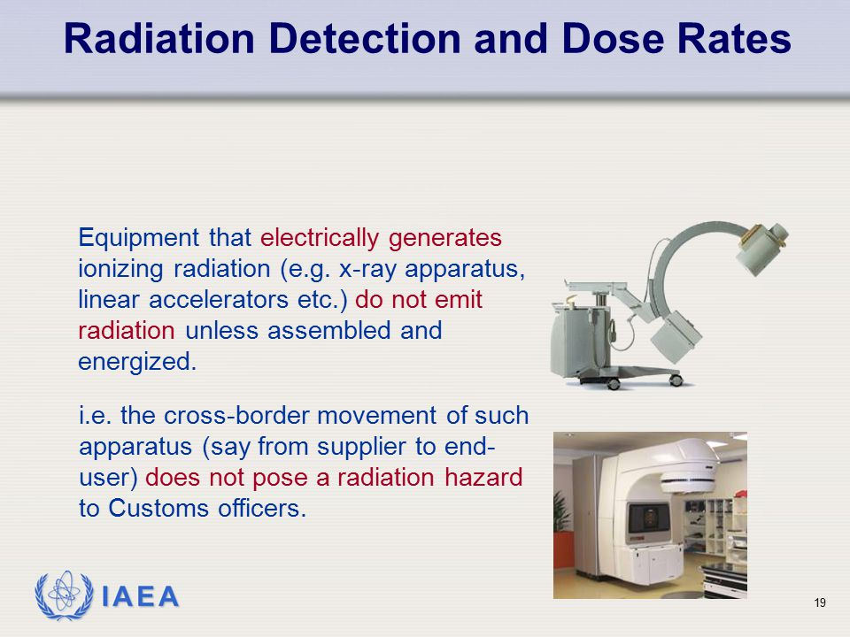 Radiation Detection and Dose Rates