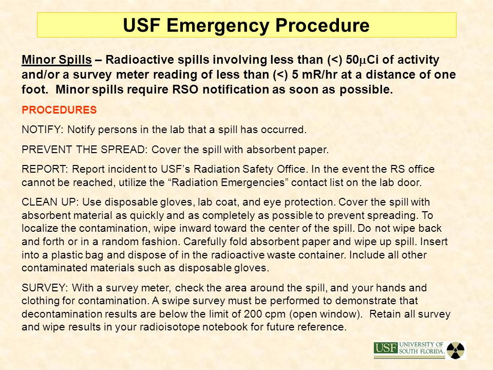 USF Emergency Procedure