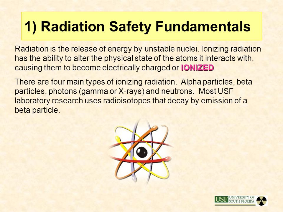 1) Radiation Safety Fundamentals