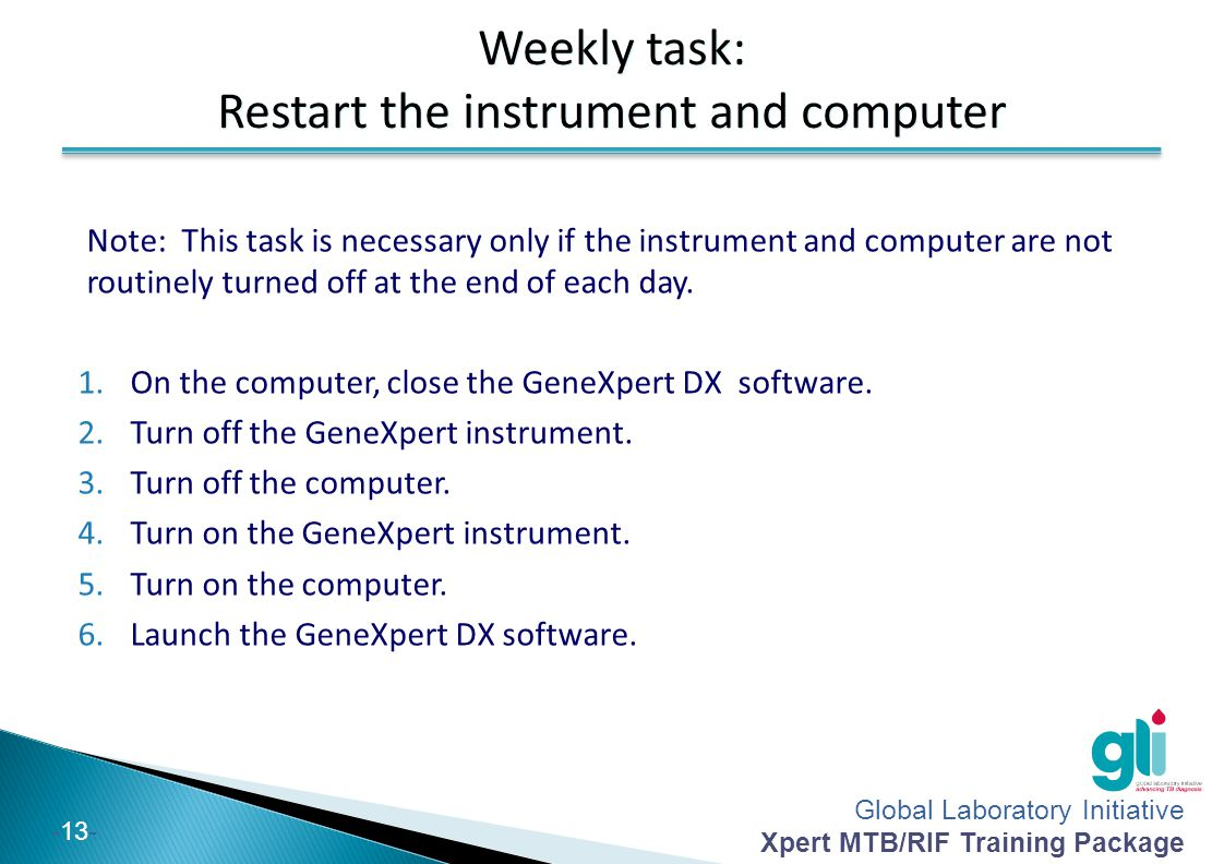 Restart the instrument and computer