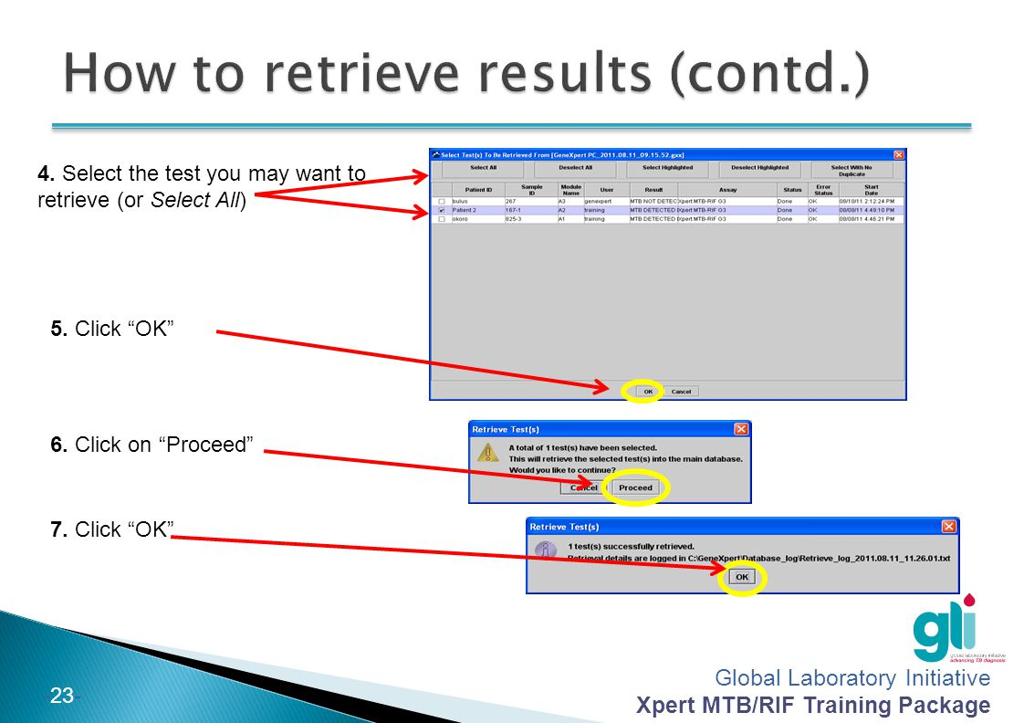 How to retrieve results (contd.)
