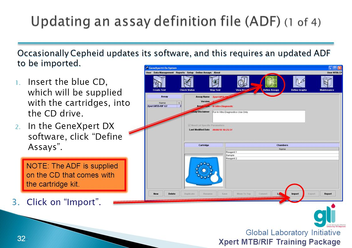 Updating an assay definition file (ADF) (1 of 4)