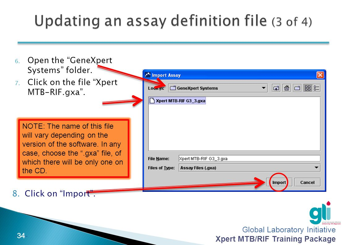 Updating an assay definition file (3 of 4)