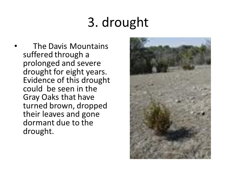 3. drought