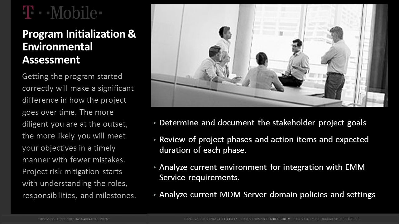 Program Initialization & Environmental Assessment