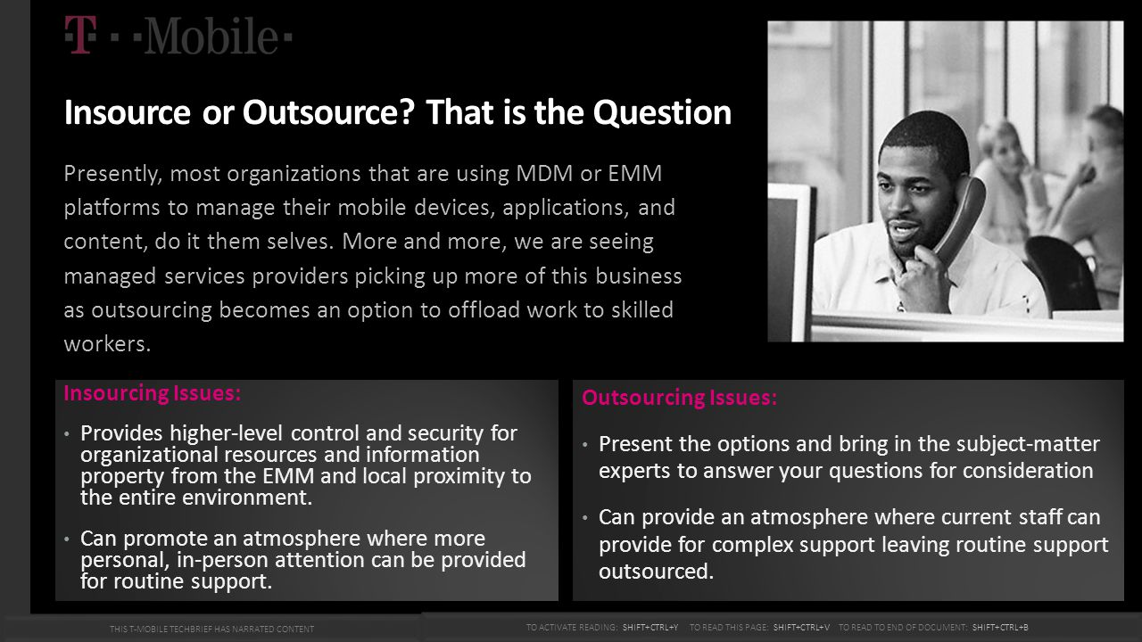 Insource or Outsource That is the Question