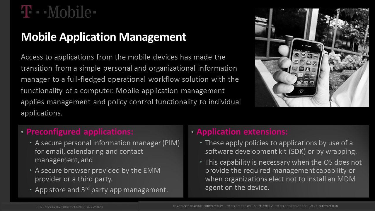 Mobile Application Management