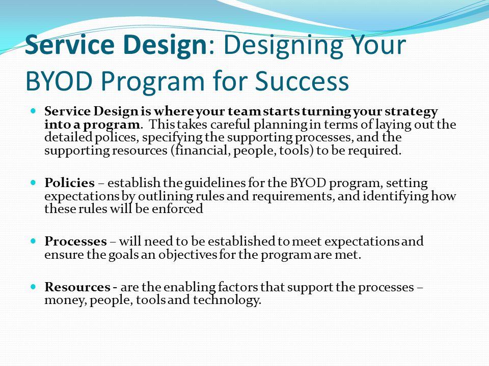 Service Design: Designing Your BYOD Program for Success