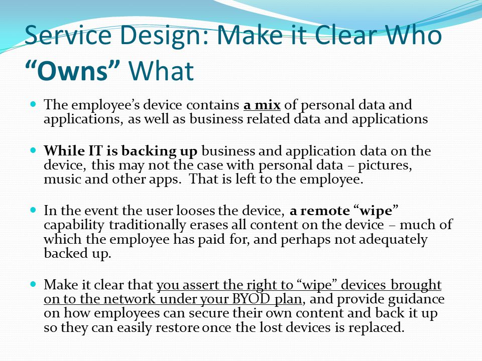 Service Design: Make it Clear Who Owns What