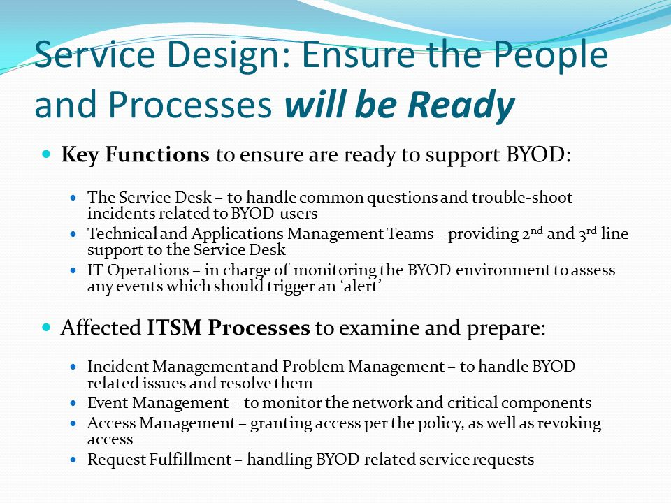 Service Design: Ensure the People and Processes will be Ready
