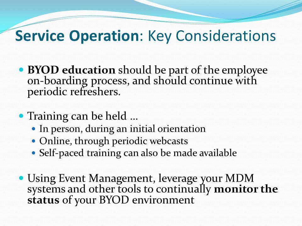 Service Operation: Key Considerations
