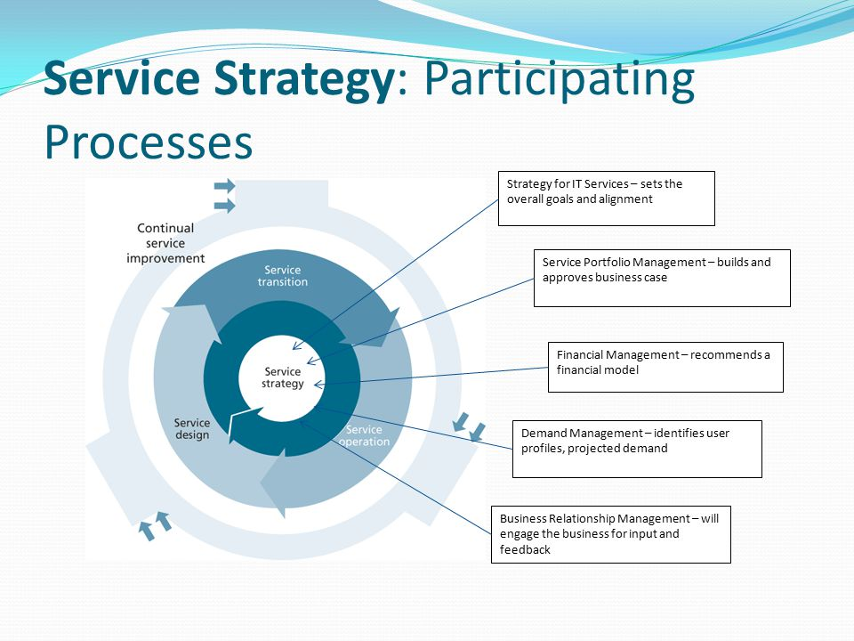 Service Strategy: Participating Processes