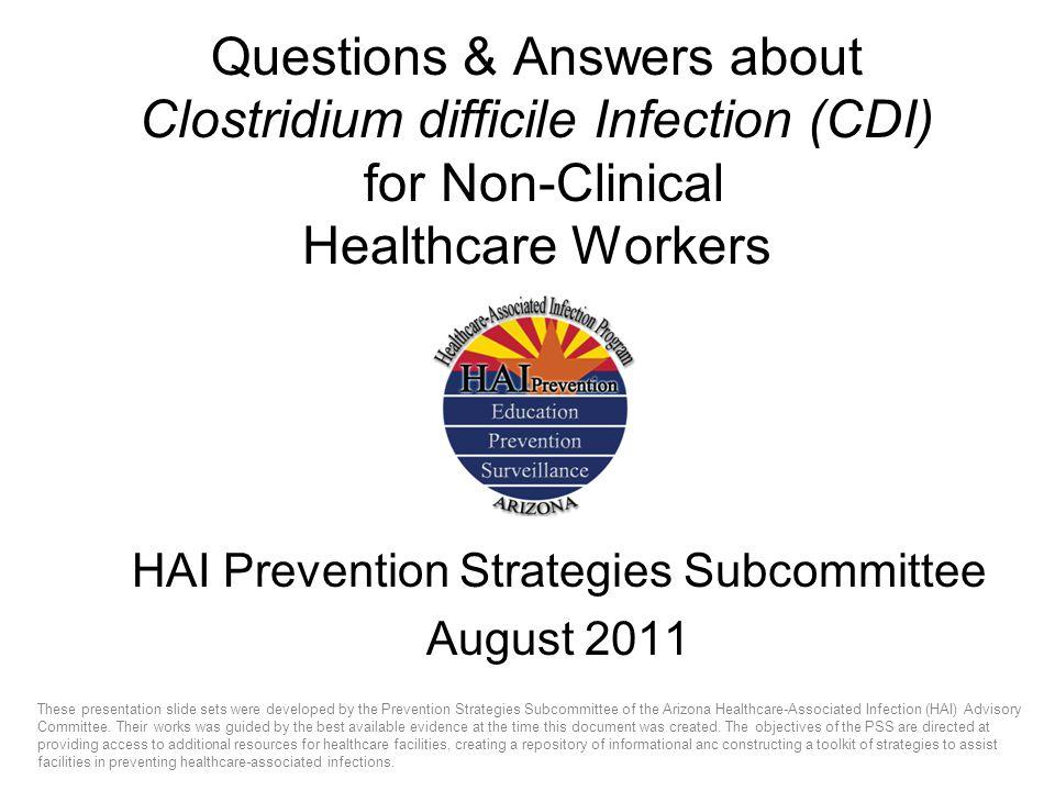 HAI Prevention Strategies Subcommittee