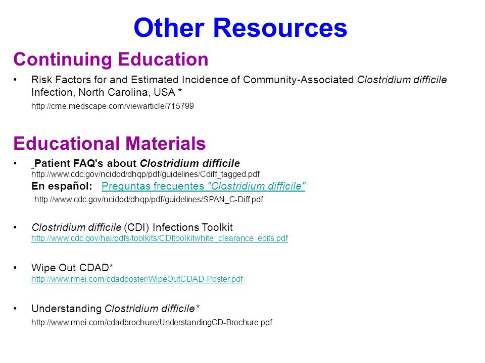 Other Resources Continuing Education Educational Materials