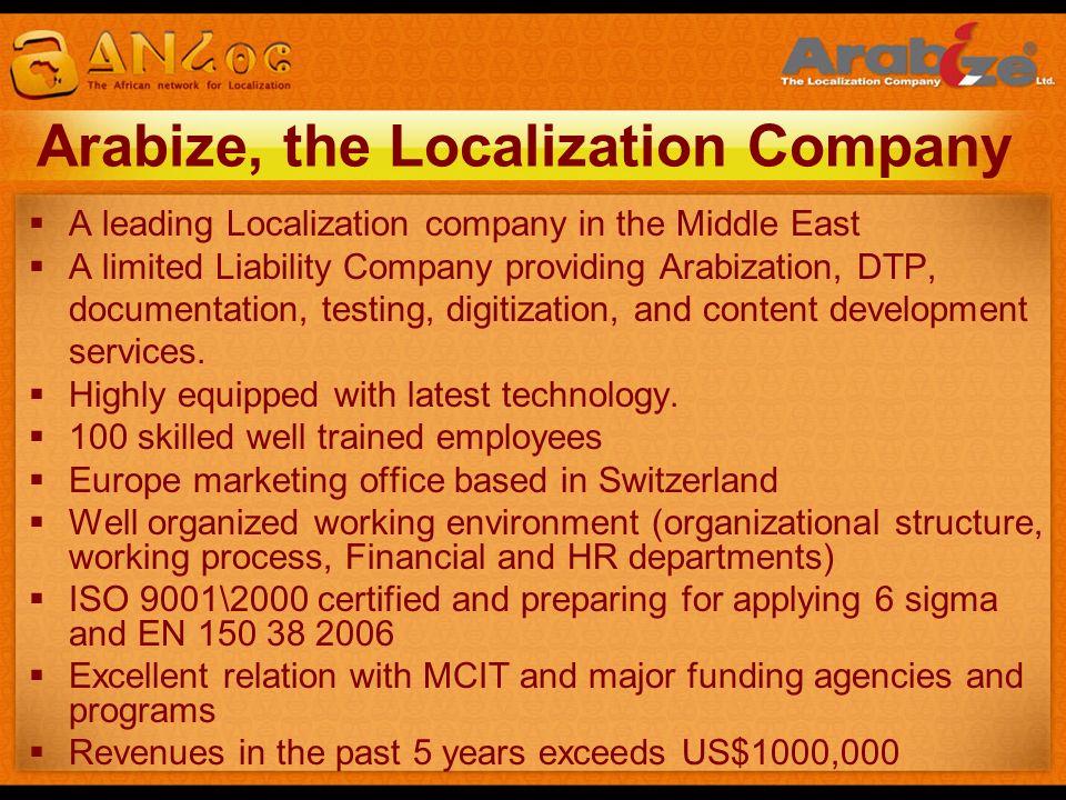 Arabize, the Localization Company