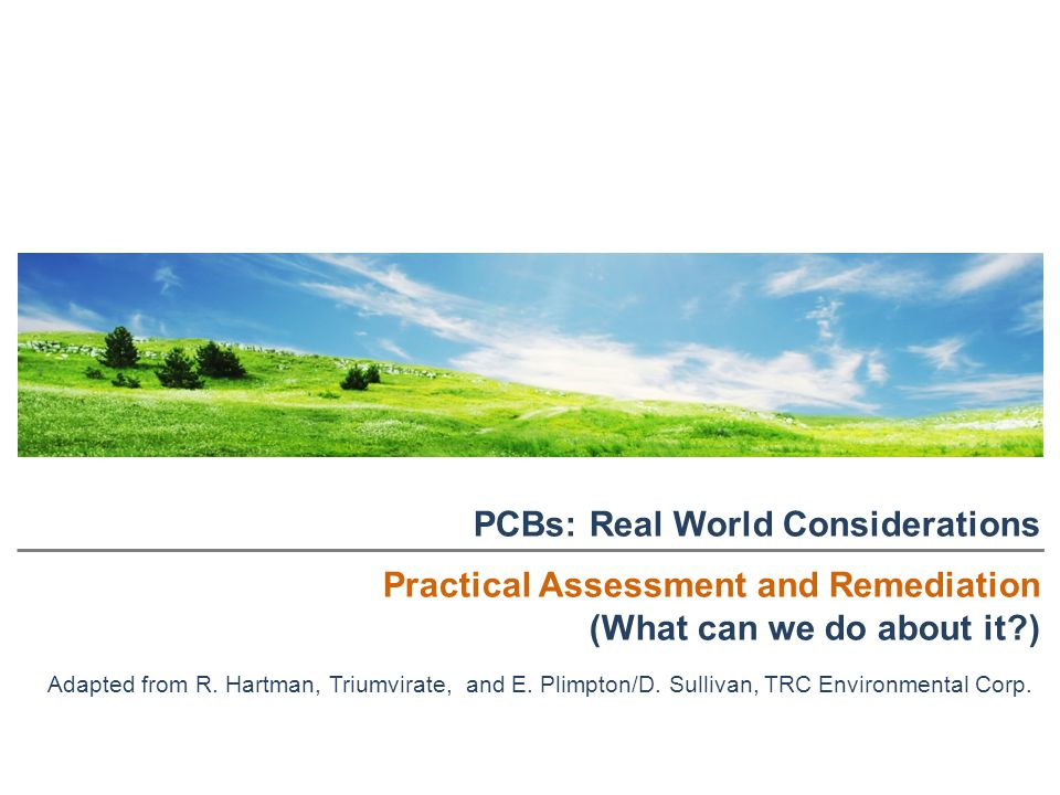 PCBs: Real World Considerations Practical Assessment and Remediation
