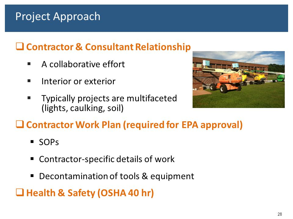 Project Approach Contractor & Consultant Relationship