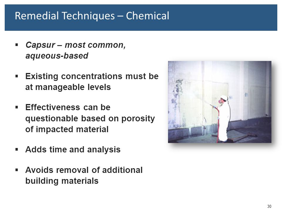 Remedial Techniques – Chemical