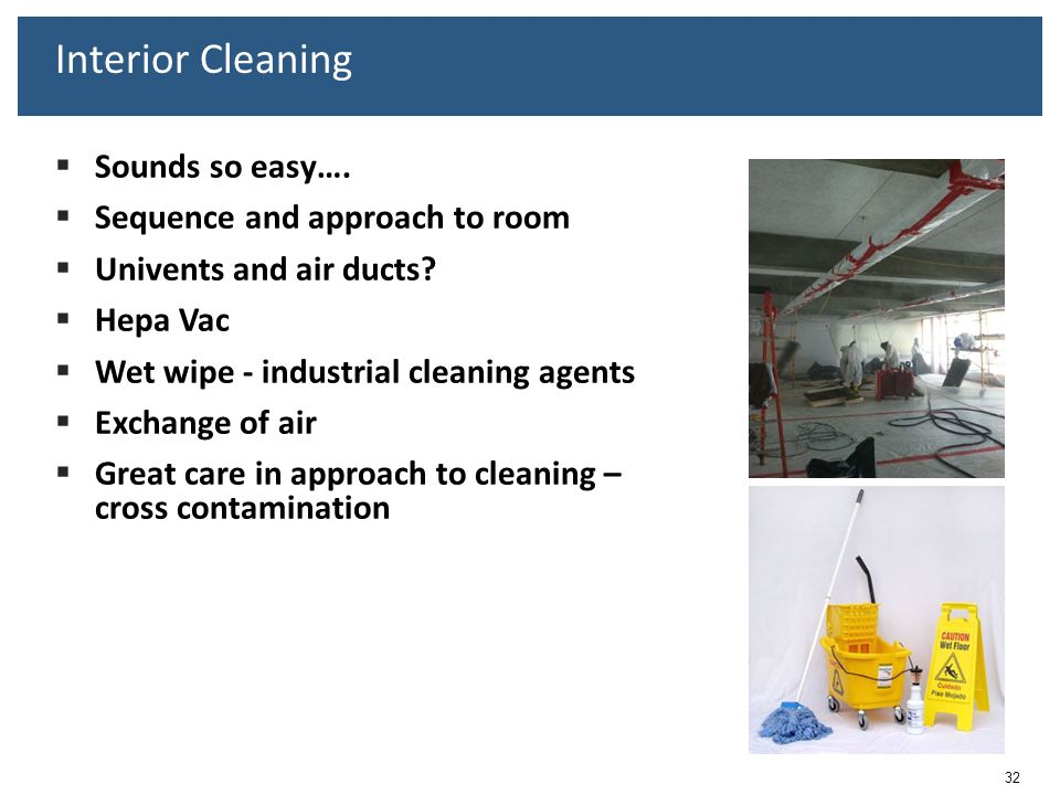 Interior Cleaning Sounds so easy…. Sequence and approach to room