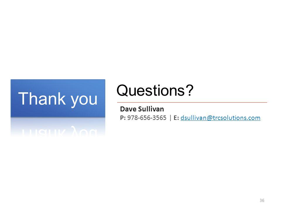 Questions Dave Sullivan