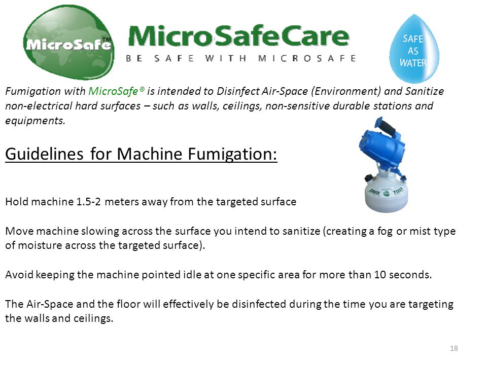 Guidelines for Machine Fumigation: