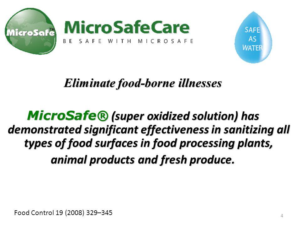 Eliminate food-borne illnesses animal products and fresh produce.