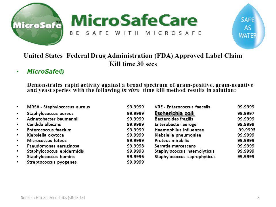 Source: Bio-Science Labs (slide 13)
