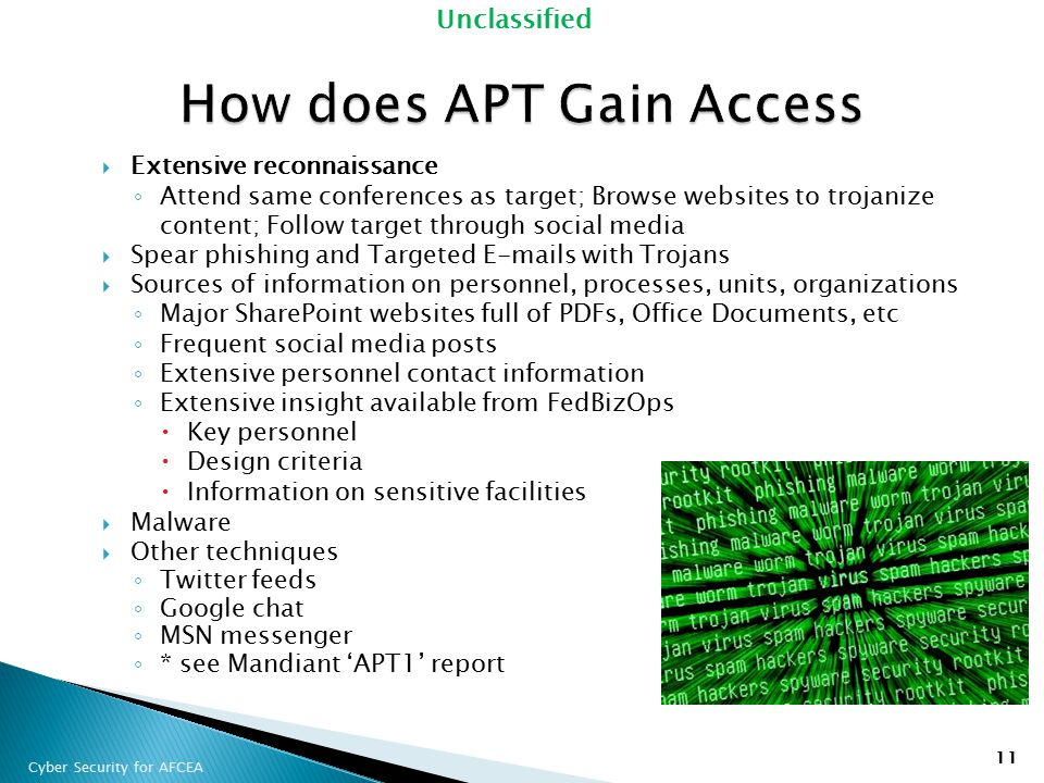 How does APT Gain Access