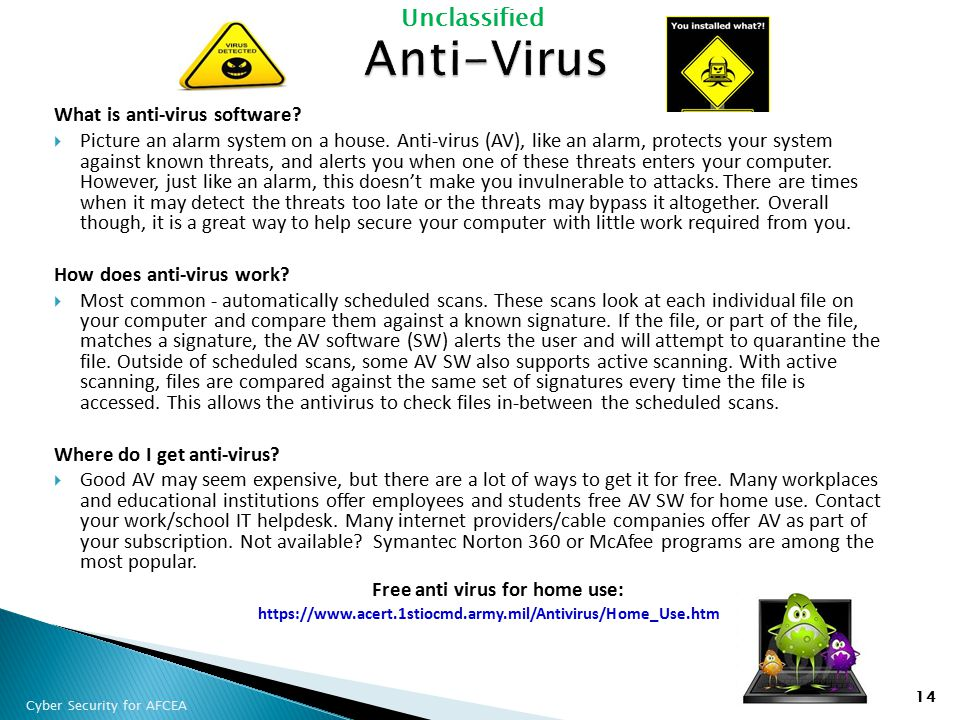 Anti-Virus What is anti-virus software