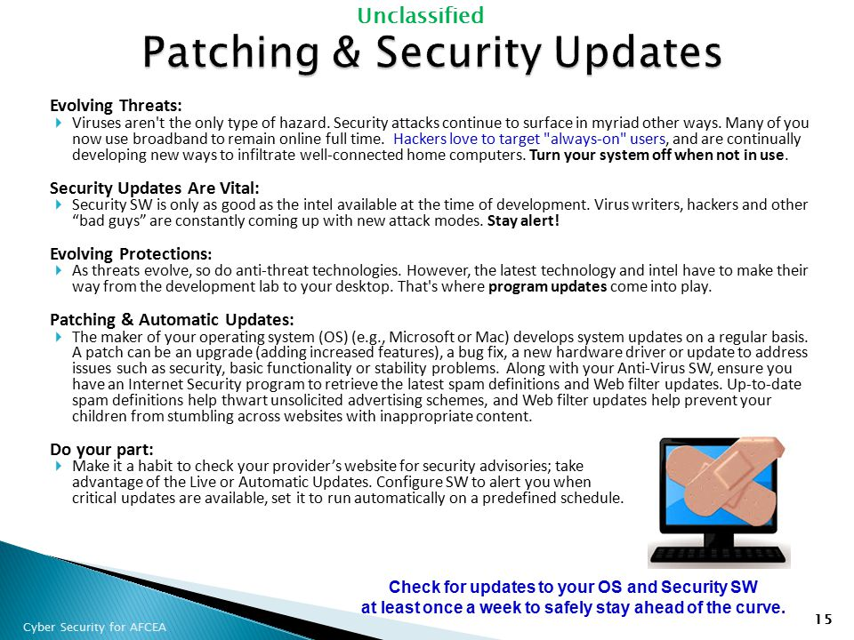 Patching & Security Updates