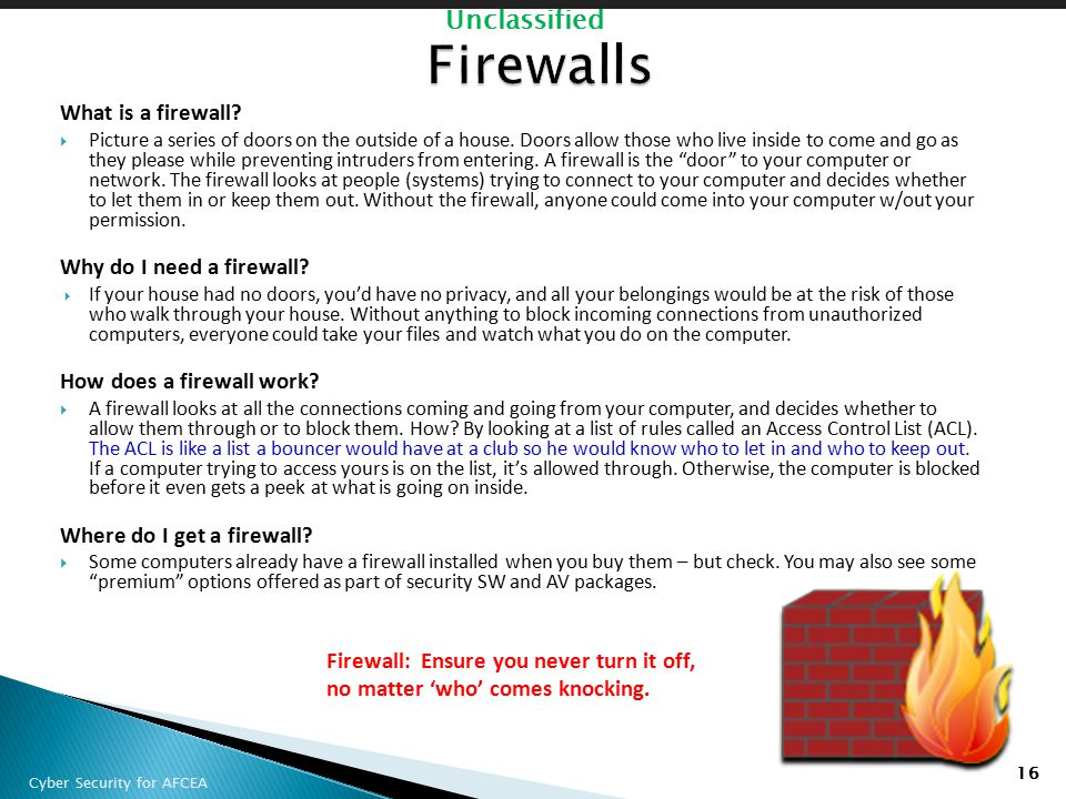 Firewalls What is a firewall Why do I need a firewall