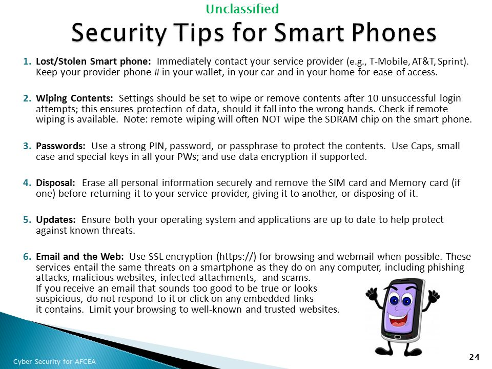Security Tips for Smart Phones