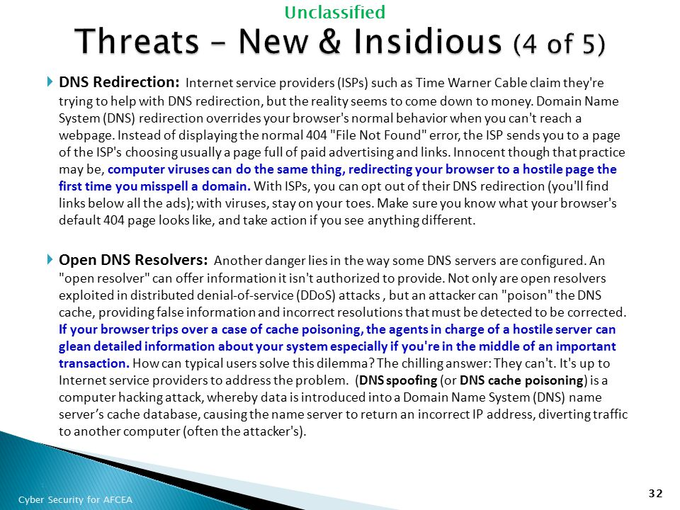 Threats – New & Insidious (4 of 5)