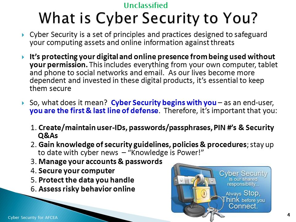 What is Cyber Security to You