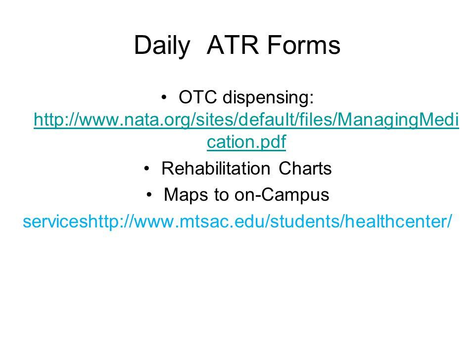 Rehabilitation Charts