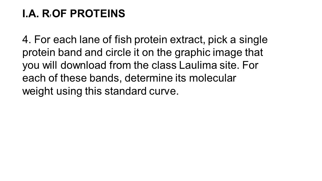 I.A. Rf OF PROTEINS