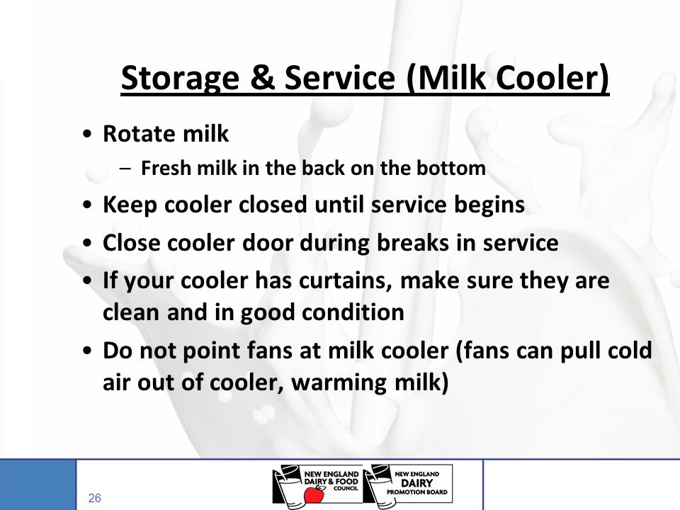 Storage & Service (Milk Cooler)