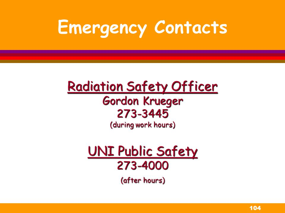 Radiation Safety Officer